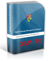DSM70 Network Digital signage management software